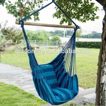 Camping/Garden/Outdoor/Park/Bedroom hammock swing chair Hanging Chair with Double cushion