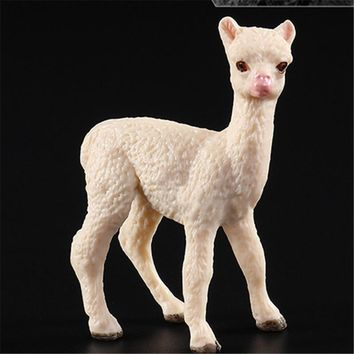 Simulation Wild Animal Figure Models Mini Alpaca Model Collections Kids Toy Gift