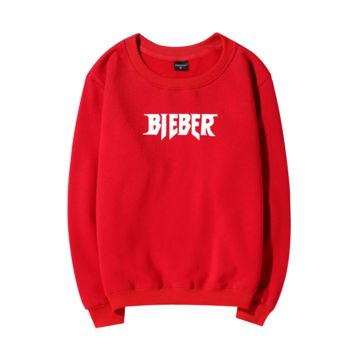 BIEBER Fashion Casual Long Sleeve Pullover Print Sweater