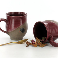 Valentine's Gift / Pottery Mug with Handle  / Ceramic Coffee Mug / Heart