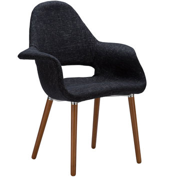 Poly and Bark Organic Armchair Black