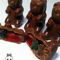 Muddy Bears. Chocolate Covered Gummy bears. One dozen large bears.