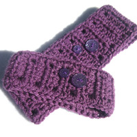 Doll and Me Crochet Headbands, Plum Purple Earwarmers for 18 Doll and Child