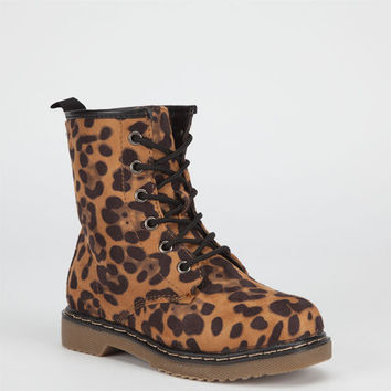 Yokids Welma Girls Boots Leopard  In Sizes