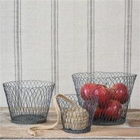 Tulle Wire Basket, Set of 3