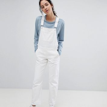 ASOS DESIGN denim overall in off white at asos.com