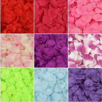freeship 1000 pcs /a lot  41 colors Fashion  artificial  for party wedding decoration  Silk  Rose Petals Wedding Flowers Decor party [7982979911]