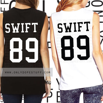 Taylor Swift Team Shirt  Muscle Tee Jersey 1989 Album Shirt