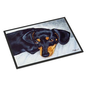 Black and Tan Doxie Dachshund Indoor or Outdoor Mat 24x36 AMB1079JMAT
