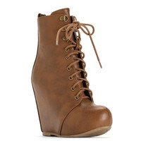 Brown Boot Camp Glam Booties
