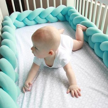 Plush Stuffer Long Knotted Braid Baby Crib Bumper
