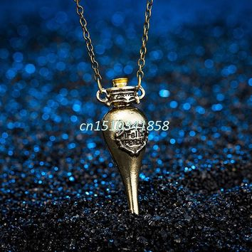 Felix Felicis Potion Bottle Felixfelicis Movie Pendant Necklace Hot Choker #Y51#