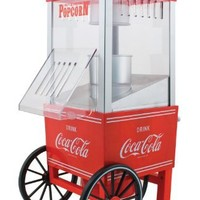 Nostalgia OFP501COKE Limited Edition Coca-Cola 12-Cup Hot Air Popcorn Popper