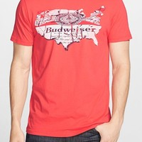 Men's Junk Food 'Budweiser Map' Graphic T-Shirt,