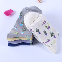 [COSPLACOOL]New Plant Cactus pattern women/girl socks comfortable lovely cute socks cotton Casual Chaussette Warm Calcetines Sox