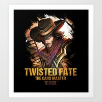 League of Legends TWISTED FATE - [The Card Master] Art Print by naumovski