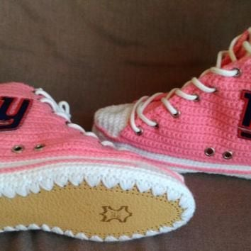New York Giants Converse, New York Giants Pink Shoes, New York Giants, Women's And Men