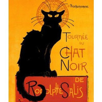 Le Chat Noir (The Black Cat) by Théophile Alexandre Steinlen. Art Print Poster (16 x 20)