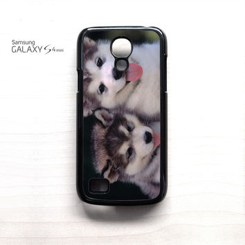 Siberian Husky Puppies Dog for Samsung Galaxy Mini S3/S4/S5 phone case