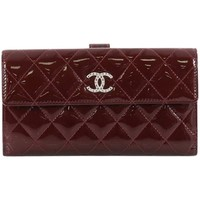 Chanel Brilliant CC Trifold Wallet Quilted Patent Long
