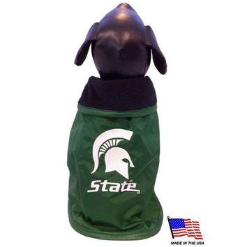 Chenier Michigan State Weather-Resistant Blanket Pet Coat