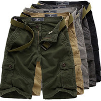 Urban Men Style Cotton Cargo Shorts