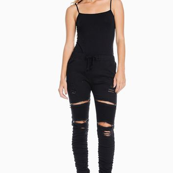 Moto Ruched Joggers