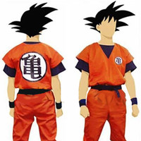 Two Style Dragon Ball Z Son Goku Kids Adult Cosplay Costume Set