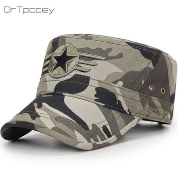 Trendy Winter Jacket Camouflage Flat Top Mens Caps&Hat Adjustable Fitted Cotton Baseball Cap Casual Hats For Men Snapback Bone Cap For Men Sun Hat AT_92_12