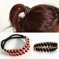 Stylish Gift Jewelry New Arrival Shiny Korean Accessory Hair Accessories Chain Ring [6586116487]