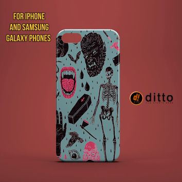 CLASSIC HORROR NIGHT Design Custom Case by ditto! for iPhone 6 6 Plus iPhone 5 5s 5c iPhone 4 4s Samsung Galaxy s3 s4 & s5 and Note 2 3 4