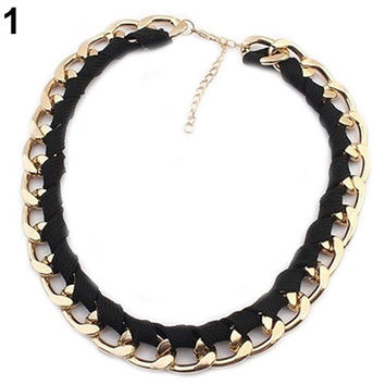 Fashion Punk Women's Chain Necklace Collar Statement Choker Party Jewelry Gift YHS = 1946839684