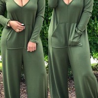 Hooded One Piece Jumpsuit
