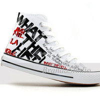 Avril Lavigne Hand Painting Shoes High Top Canvas Sneakers