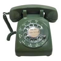 Pre-owned Moss Green 1966 WE Rotary Dial Phone Modular