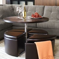 Capitol Coffee Table with Storage Ottomans - furniture - Macy's