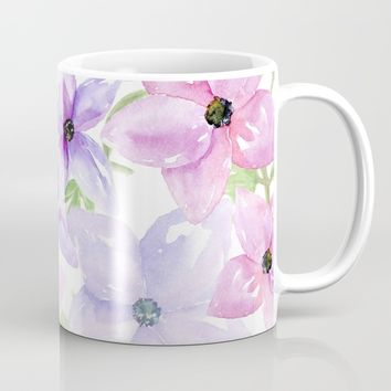 clematis vines Mug by Sylvia Cook Photography