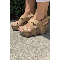 Boardwalk Wedge- Taupe