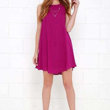 Better Believe It Magenta Shift Dress