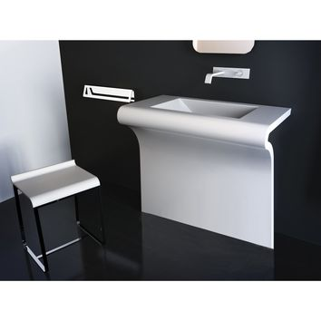 "Venti Single Sink Bathroom Vanity Console Steel Black or White 24""/ 30""/ 32"" / 36"" - MIDE Sink"