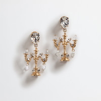 Jewelry and bijoux for women | Dolce&Gabbana - PENDANT EARRINGS WITH CRYSTALS
