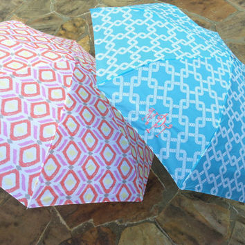 Monogram Personalized Umbrella compact by TheMonogrammingQueen
