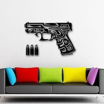 Wall Stickers Vinyl Decal Gun Chucks Firearms War Military Unique Gift (ig864)