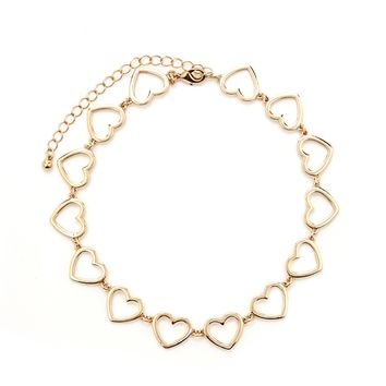 Heart Cutout Chain Choker