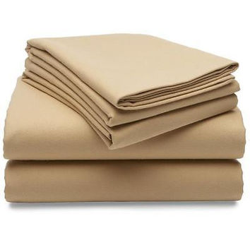Regal Comfort Bamboo Luxury 2100 Series Hotel Quality Sheet Cal King Sand