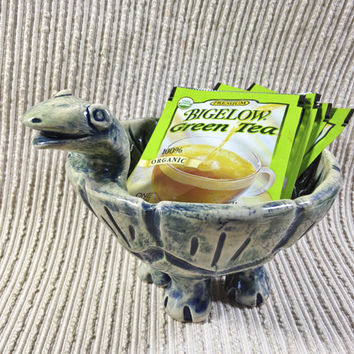 Soap Dish / Turtle Bowl Sculpture / Wedding Gift / Housewarming Gift / Tortoise / Handmade Pottery / Candy Dish / Olive Dish / Appetizer Dish / OOAK