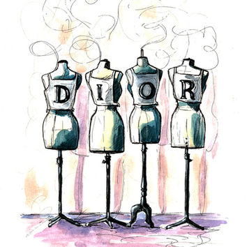 Dior Art Print by Shannon Sutton | Society6