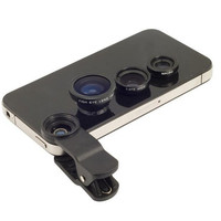 Universal 3 in1 fisheye fish eye wide-angle lens for iphone 5 6 samsung galaxy lg phone lente olho de peixe para celular Lentes