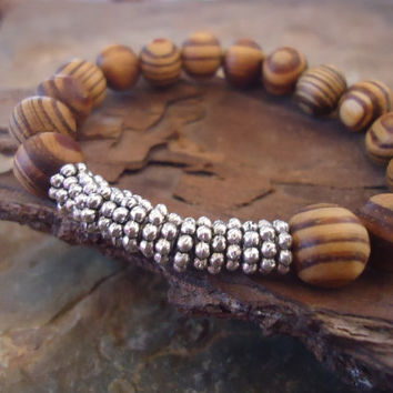 ROOT WOOD bracelet with wooden beads and spacers