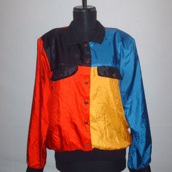 Vintage 1990s Mondrian Inspired Blouse Color Block
